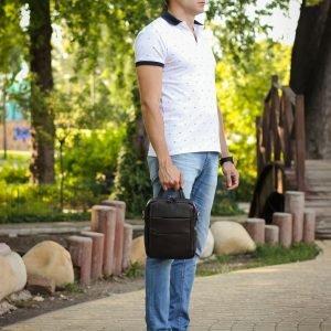 Модная коричневая мужская сумка через плечо BRL-34408 223406
