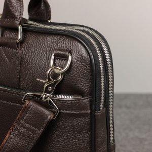Вместительная коричневая мужская кожгалантерея BRL-34094