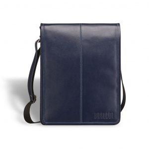 Кожаная синяя мужская сумка через плечо BRL-7393 220540