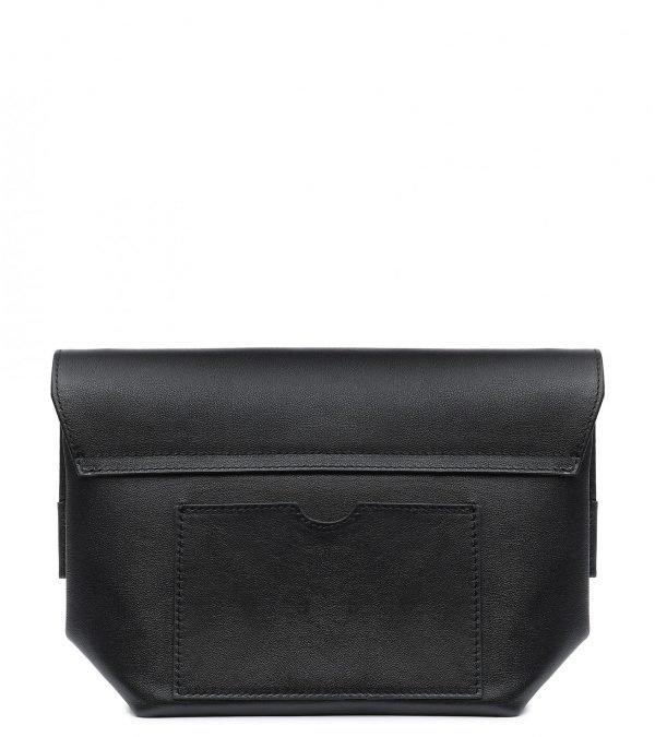 Кожаный черный женский клатч FBR-2378