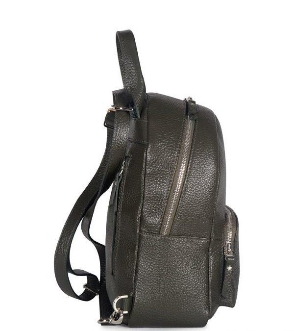 Кожаный черный женский рюкзак FBR-2515