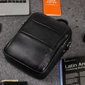 Функциональная черная мужская сумка через плечо BRL-34406 223369