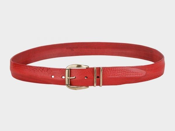 Деловой красный мужской джинсовый ремень ATS-674