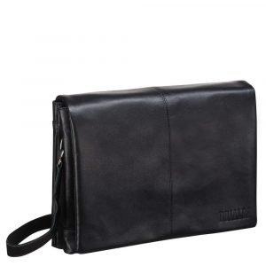 Удобная черная мужская сумка через плечо BRL-207