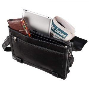Удобная черная мужская сумка через плечо BRL-207 219854