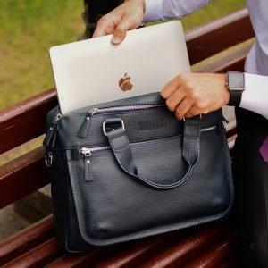 Функциональный синий мужской портфель деловой BRL-34108 223185