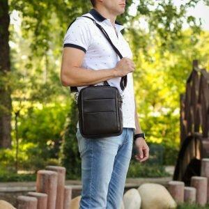 Модная коричневая мужская сумка через плечо BRL-34408 223404