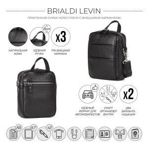 Функциональная черная мужская сумка через плечо BRL-34406 223366