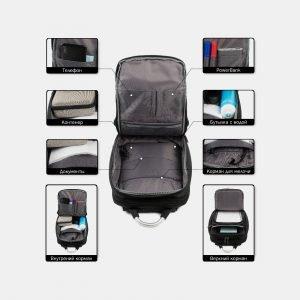 Модный черный рюкзак из пвх ATS-3821 211040