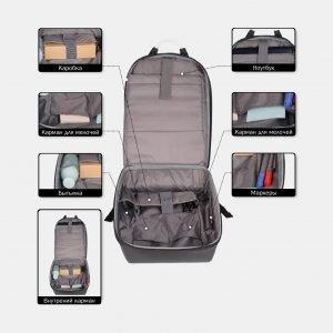 Уникальный черный рюкзак из пвх ATS-3819 211054