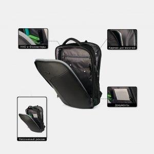 Модный черный рюкзак из пвх ATS-3822 211032
