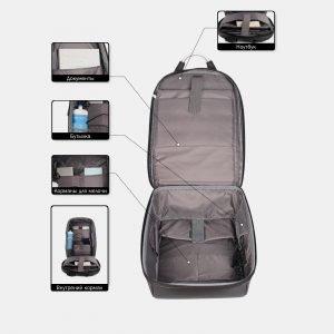Функциональный черный рюкзак из пвх ATS-3818