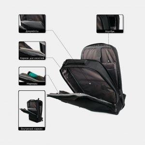 Неповторимый черный рюкзак из пвх ATS-3815 211082
