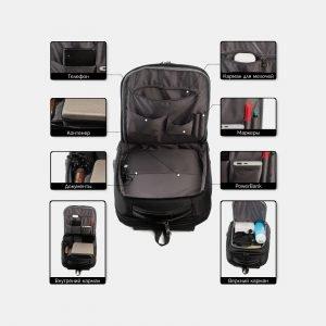 Модный черный рюкзак из пвх ATS-3814 211088