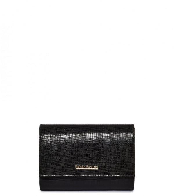 Кожаный черный женский клатч FBR-1959