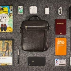 Неповторимая коричневая мужская сумка через плечо BRL-33398 223016