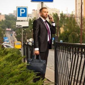 Функциональный синий мужской портфель деловой BRL-34108 223183