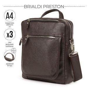 Стильная коричневая мужская сумка через плечо BRL-33395