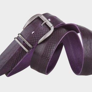 Неповторимый фиолетовый мужской джинсовый ремень ATS-673 217228