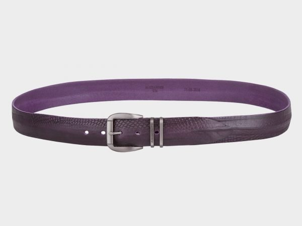 Неповторимый фиолетовый мужской джинсовый ремень ATS-673