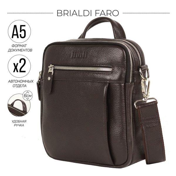 Неповторимая коричневая мужская сумка через плечо BRL-33398