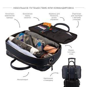 Удобная синяя мужская сумка трансформер через плечо BRL-23168 221926