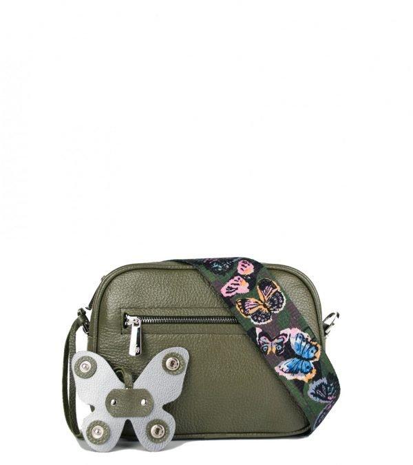 Солидная желтовато-зелёная женская сумка через плечо FBR-2354