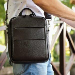 Модная коричневая мужская сумка через плечо BRL-34408 223396