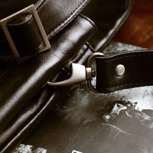 Удобная черная мужская сумка через плечо BRL-207 219858
