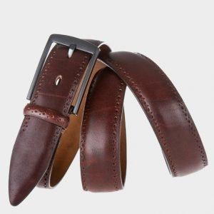 Удобный коричневый мужской классический ремень ATS-126 217612