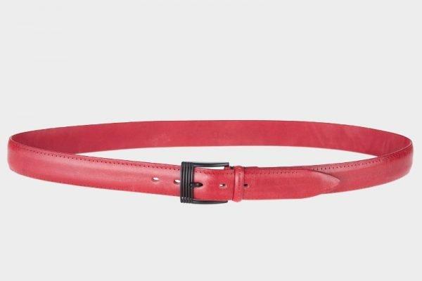 Стильный красный мужской классический ремень ATS-133