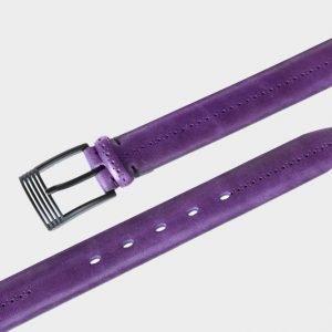 Стильный фиолетовый мужской классический ремень ATS-137 217567