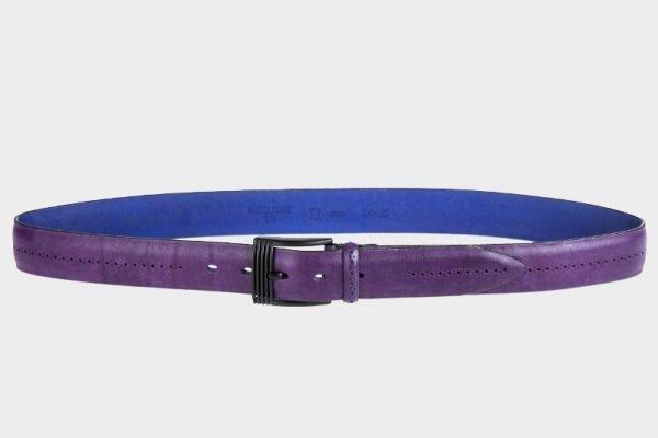 Стильный фиолетовый мужской классический ремень ATS-137