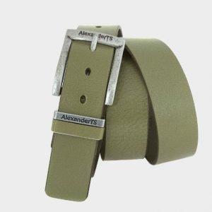 Стильный желтовато-зелёный женский джинсовый ремень ATS-166 217505