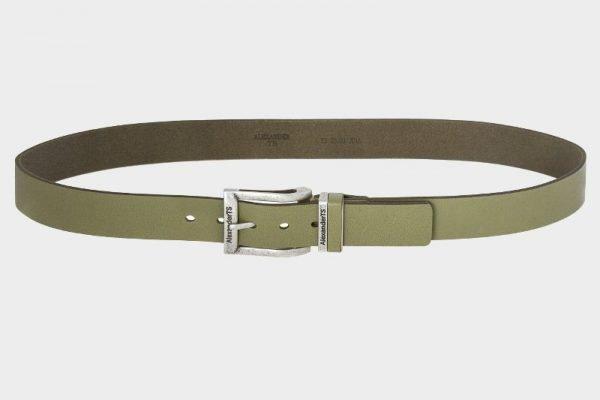 Стильный желтовато-зелёный женский джинсовый ремень ATS-166