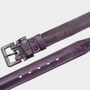 Деловой фиолетовый мужской джинсовый ремень ATS-278 217397