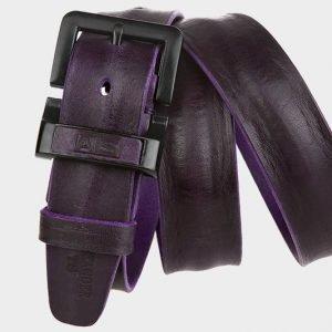 Деловой фиолетовый мужской джинсовый ремень ATS-278 217398