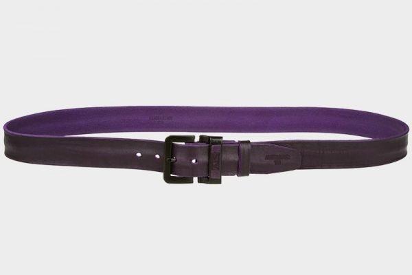 Солидный фиолетовый женский джинсовый ремень ATS-270