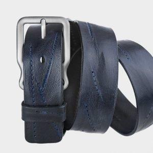 Неповторимый синий женский джинсовый ремень ATS-171 217478