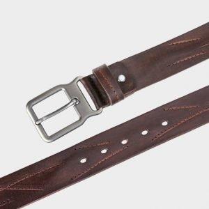 Удобный коричневый женский джинсовый ремень ATS-172 217481