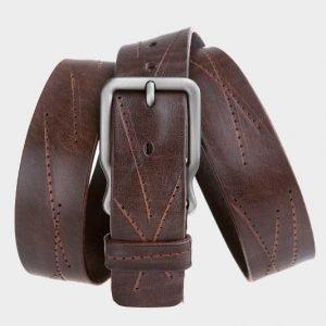 Удобный коричневый женский джинсовый ремень ATS-172 217482