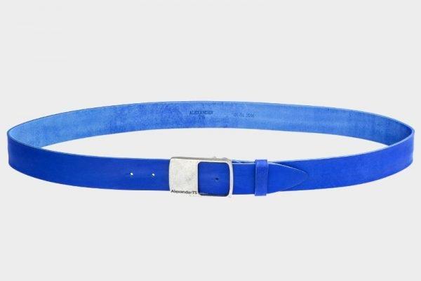 Стильный синий мужской джинсовый ремень ATS-146