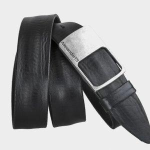 Деловой черный мужской джинсовый ремень ATS-148
