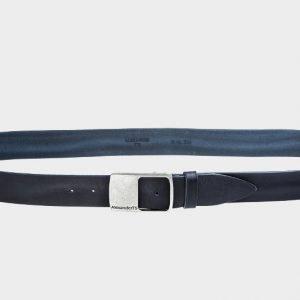 Деловой синий женский джинсовый ремень ATS-178