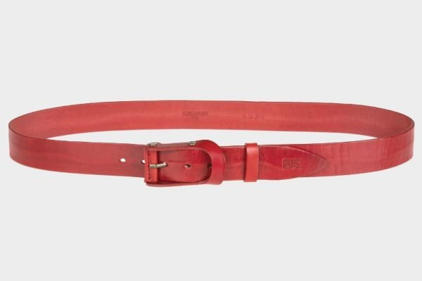 Уникальный красный мужской джинсовый ремень ATS-153