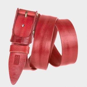 Уникальный красный мужской джинсовый ремень ATS-156 217525