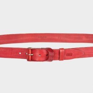 Деловой красный мужской джинсовый ремень ATS-156