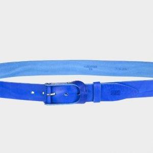 Стильный синий женский джинсовый ремень ATS-185