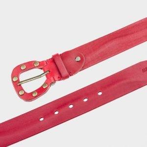 Стильный красный женский джинсовый ремень ATS-210 217445