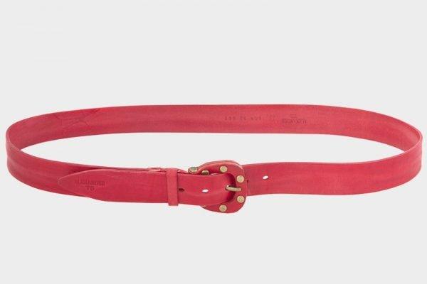 Стильный красный женский джинсовый ремень ATS-210
